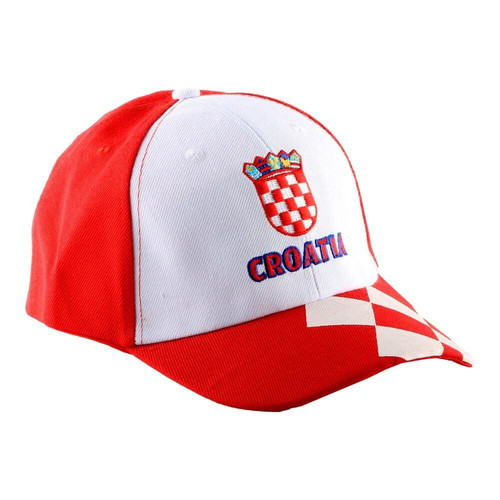 Kroatien Fan Cap Polo Basecap mit Stickerei