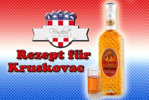 Rezept für selbsgemachten Birnenlikör Kruskovac