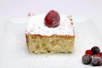 Kuchen aus Milchreis